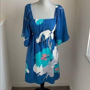 Yumi Kim Kimono dress, blue floral Size Small